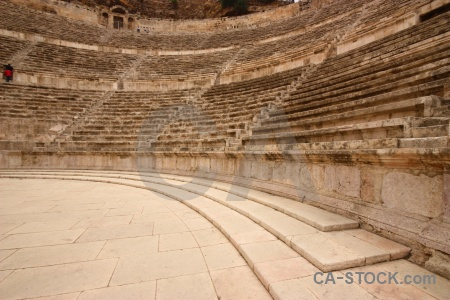 Roman ancient block amphitheatre asia.