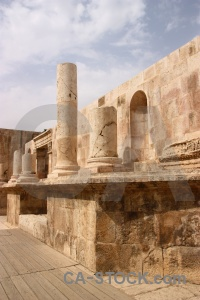Roman ancient ruin column jordan.