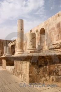 Roman ancient ruin column jordan.