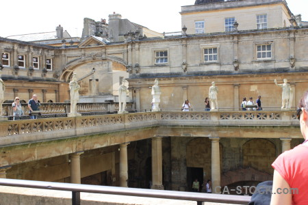 Roman baths person uk water pool.