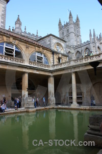 Roman baths roman water europe person.
