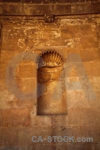 Roman orange alhambra granada building.