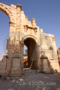 Roman ruin jarash ancient stone.