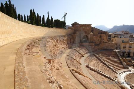 Roman ruin seat cartagena circus.