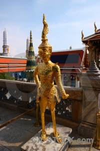 Royal palace temple of the emerald buddha sky thailand southeast asia.