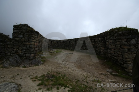 Ruin altitude stone andes cloud.