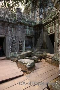 Ruin block unesco angkor asia.