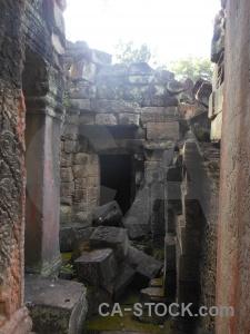 Ruin buddhism temple lichen asia.