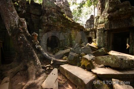 Ruin building cambodia sky lichen.