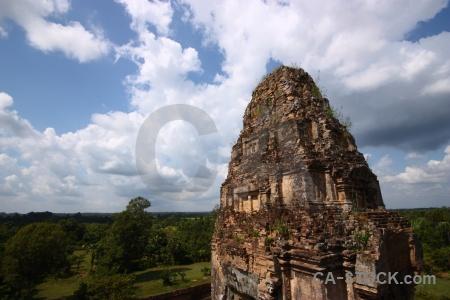 Ruin cambodia southeast asia lichen temple.