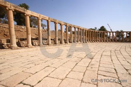 Ruin historic jarash roman gerasa.