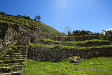 Ruin inca peru altitude south america.