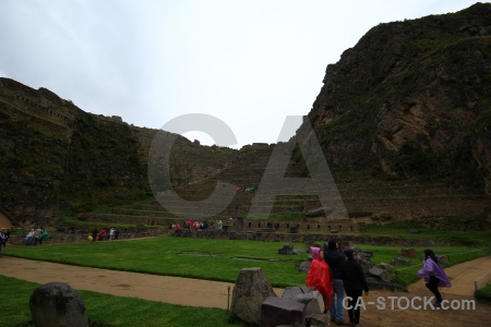 Ruin mountain terrace urubamba valley person.