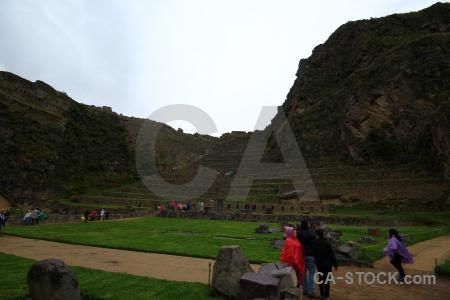 Ruin mountain terrace urubamba valley person.