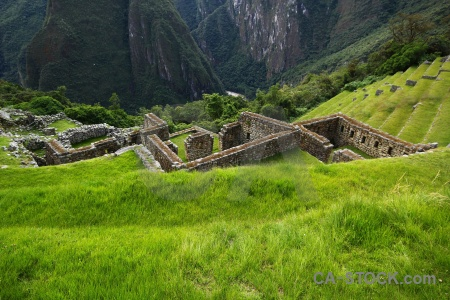 Ruin peru mountain altitude grass.
