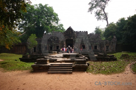 Ruin siem reap angkor preah khan unesco.