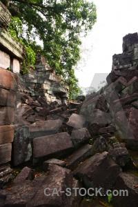 Ruin stone buddhism southeast asia temple.