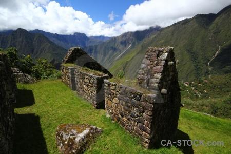 Ruin stone landscape peru altitude.