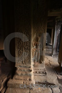Ruin unesco southeast asia stone temple.