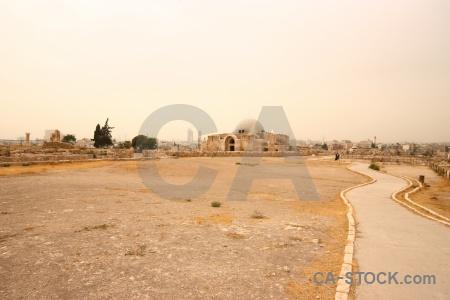 Ruin western asia amman stone historic.