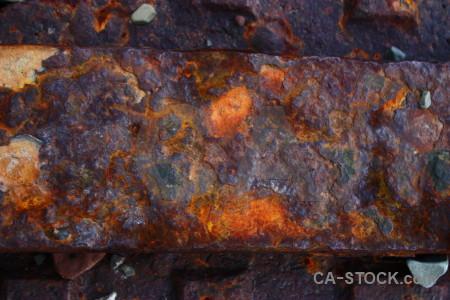 Rust orange texture.