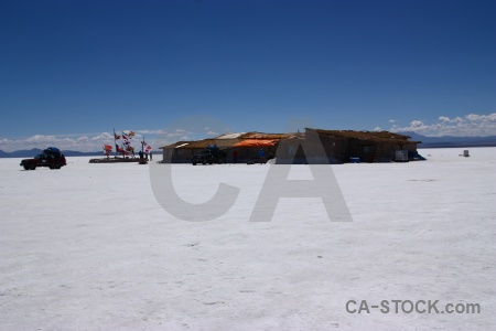 Salar de uyuni cloud landscape altitude car.