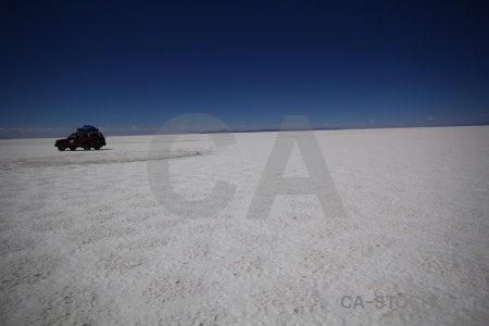 Salar de uyuni vehicle 4x4 landscape south america.