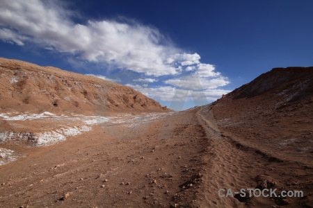 Salt atacama desert south america cloud sky.