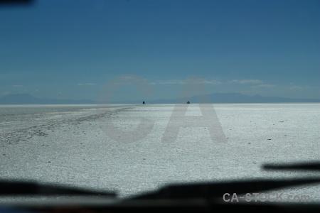 Salt flat altitude andes salar de uyuni bolivia.
