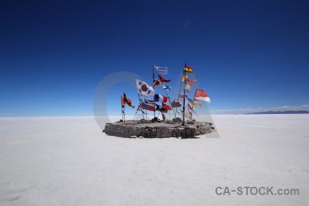 Salt flat andes salt salar de uyuni bolivia.