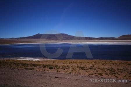 Salt flat mountain desert landscape atacama.