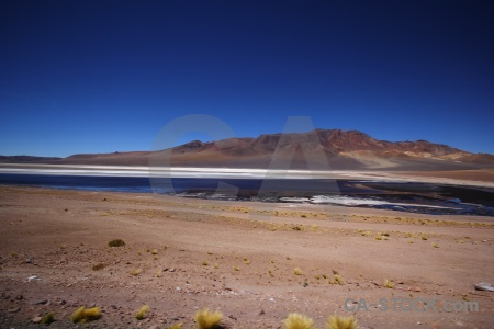 Salt flat salt lake atacama desert landscape altitude.