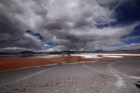 Salt lake andes south america salt sky.