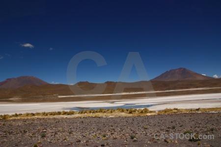 Salt lake laguna charcota cloud sky landscape.
