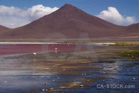 Salt lake mountain salt cloud bolivia.