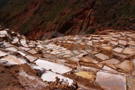 Salt mine andes south america maras pool.