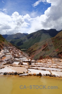 Salt mine south america pool cloud peru.