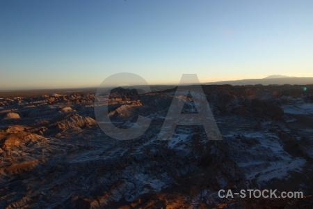 Salt rock san pedro de atacama desert landscape.