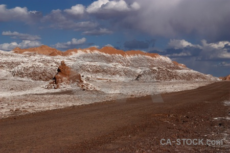 Salt rock valley of the moon atacama desert sky.