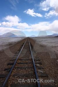 Salt salt flat salar de chiguana railway cloud.