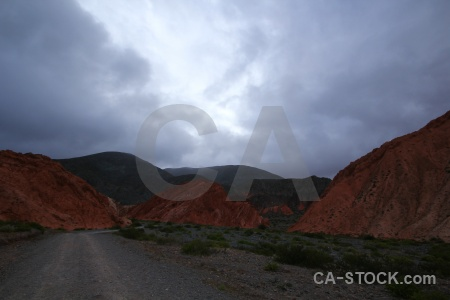 Salta tour landscape cloud rock sky.