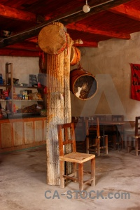 Salta tour south america cafe chair column.