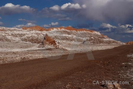 San pedro de atacama salt rock cordillera la sal landscape.