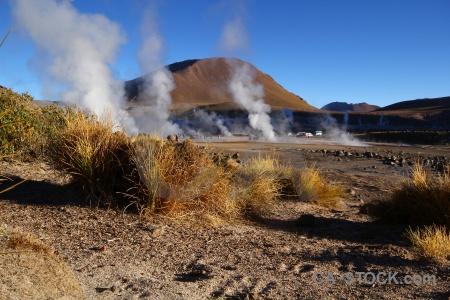 Sand andes el tatio geyser sky.