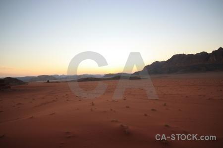 Sand asia sunrise middle east jordan.