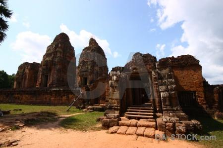 Sand buddhism khmer stone brick.