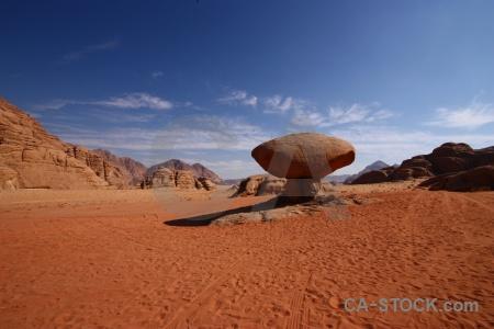 Sand jordan bedouin mountain mushroom.