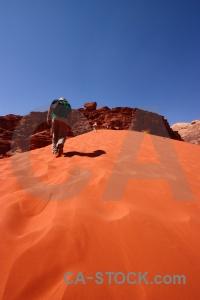Sand rock jordan asia desert.