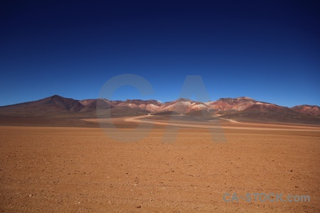 Sand south america andes mountain landscape.