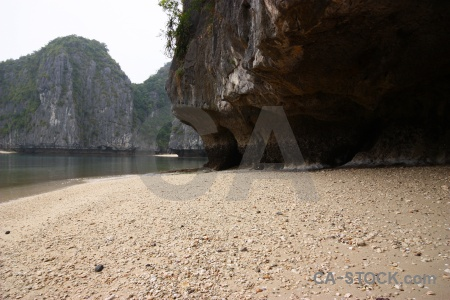 Sand vinh ha long water sea rock.
